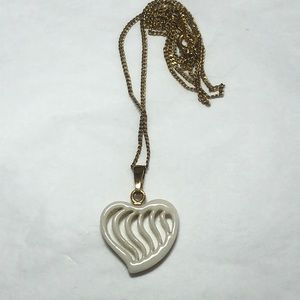 LENOX GF Carved Heart China Necklace